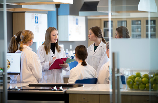 Students in food labs