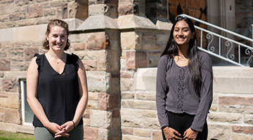 "Agents of Change Student Executives, Amy Karpenko and Nivedita ""Nivi"" Varagunan"